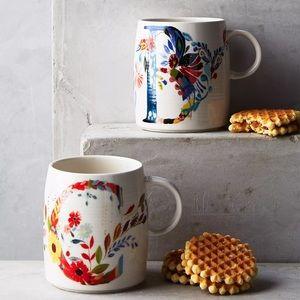 Discontinued Anthropologie Petal Palette Mug!
